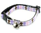 Cat Collar - Purple Polka Dots