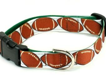 Ribbon Dog Collar - Football Dog - Choose Your Size