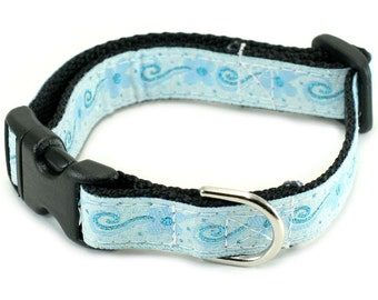 "5/8"" Dog Collar or Martingale - Winter Blossoms"