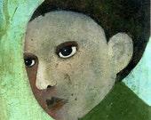 """Profile  8"""" x 10"""" Original Painting Print Portrait Bliss"""