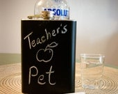 RESERVED FOR NICOLE: 6 chalkboard flasks
