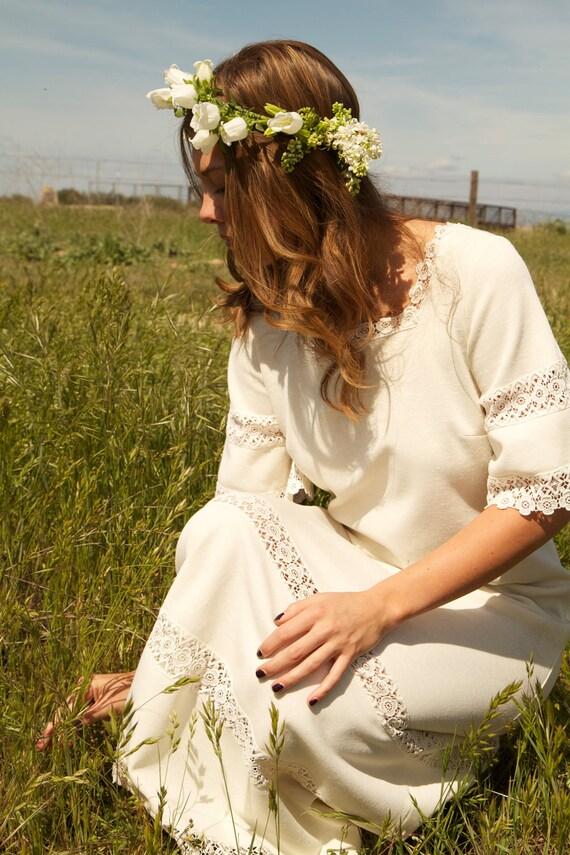 Sale hippie vintage wedding dress bri for Bohemian wedding dress for sale