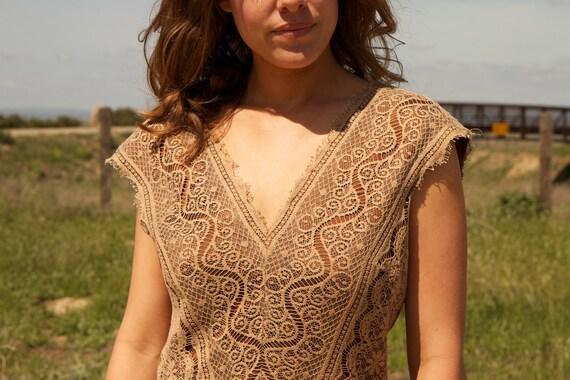 Short Vintage Bridal Dress - Beth
