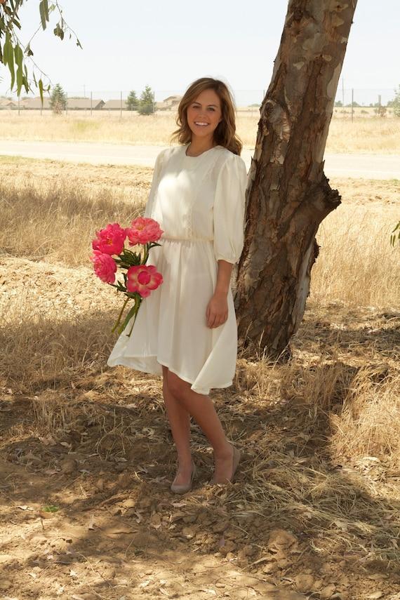 Cream Vintage Wedding Gown - Taylan