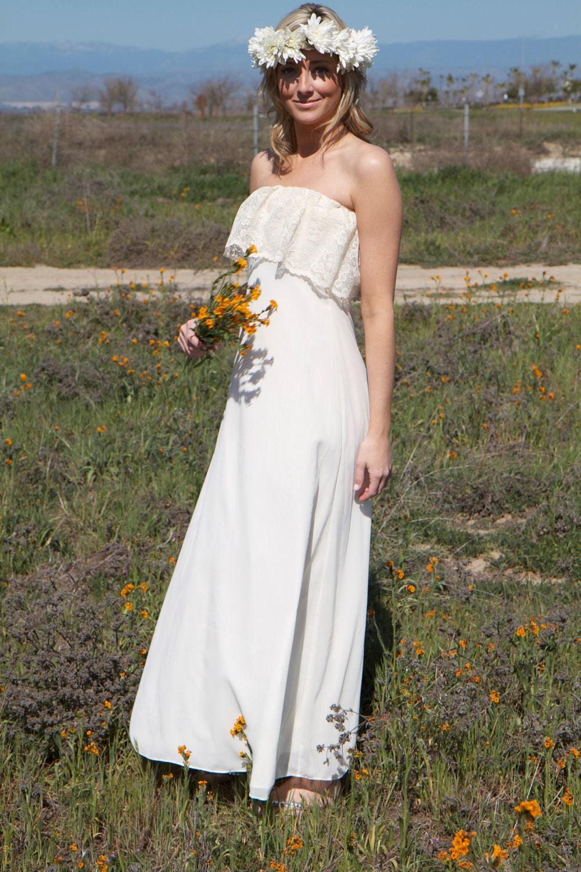 White Bohemian Dress