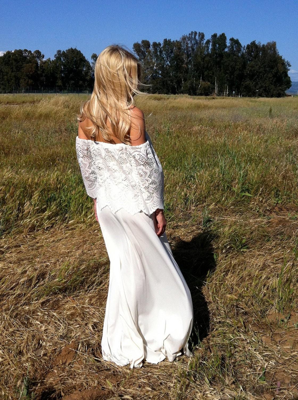 Off The Shoulder Vintage Wedding Dress Rosie By