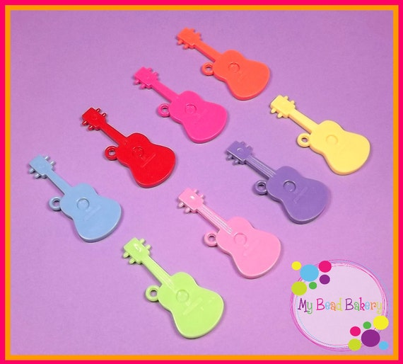 You Pick 10 Large Acrylic Guitar Charms 50mm DIY Crafts