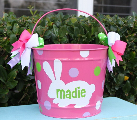 Easter bucket personalized - Custom made easter baskets ...