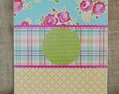 personalized monogrammed custom embellished clipboard great teacher gift floral plaid vintage inspired