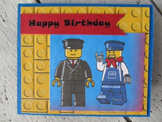 Birthday Card Lego Men – Lego Birthday Card