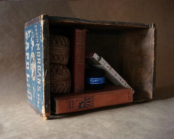 1890s Antique Soap Box Enoch Morgan Sapolio Soap Crate Shabby Chic