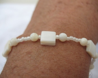 Mather-of-pearls bracelet.