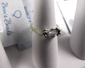 Elastic Beaded Ring With Focal Crystal/Bead