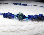 blue/green glass beaded Necklace