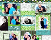 Wedding Invitation Card Templates - Graduation Announcements - Printable Cards DIY Template - Senior, Newborn, Engagement - Limestone