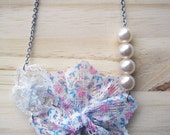 S A L E Pearls n Doilies Necklace
