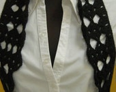 Crochet  Black  Vest Bolero Trendy Chic