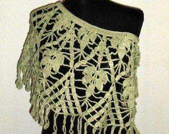 Crochet Poncho, Women Poncho, Shimmering Lacy Poncho, Crochet Bolero,  Spring Summer Poncho