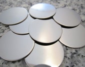 "7/8"" (22MM) Round Disc Stamping Blanks, 22g Stainless Steel - AWESOME Silver Alternative R07N"