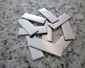 "1/4""x3/4"" (6MMx19MM) Rectangle Stamping Blanks, 22g Stainless Steel - AWESOME Silver Alternative RT02-06N"