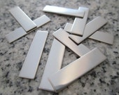 """1/4""""x1 1 /4"""" (6MMx32MM) Rectangle Stamping Blanks, 22g Stainless Steel - AWESOME Silver Alternative RT02-10"""