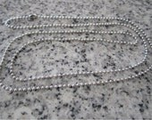 "30"", 1.5mm No. 0 Stainless Steel Ball Chain necklaces -  AWESOME Silver Alternative BC0-30"