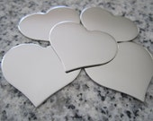 "1 1/4""x1"" (32MMx25MM) Heart Stamping Blanks, 22g Stainless Steel - AWESOME Silver Alternative H10-08N"