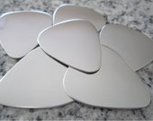 "1""x1 1/4"" (25MMx32MM) DOUBLE SIDED (mirror finish both sides) Guitar Pick Stamping Blanks, 22g Stainless Steel - DSGP10-08N"