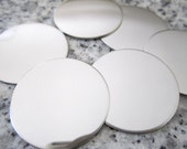 "1"" (25MM) Round Disc Stamping Blanks, 22g Stainless Steel - AWESOME Silver Alternative R08"