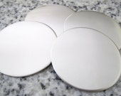 "1 1/4"" (32mm) Round Disc Stamping Blanks, 22g Stainless Steel - AWESOME Silver Alternative R10"
