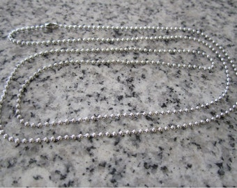 "24"", 1.5mm No. 0 Stainless Steel Ball Chain necklaces -  AWESOME Silver Alternative BC0-24"