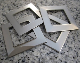"""1 1/4"""" (32mm) Square Washer Stamping Blanks, 22g Stainless Steel - AWESOME Silver Alternative SW10"""