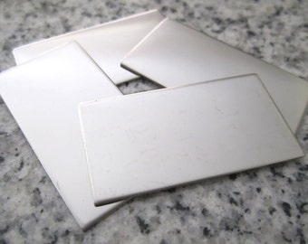 """3/4""""x1 1/2"""" (19MMx38MM) Rectangle Stamping Blanks, 22g Stainless Steel - AWESOME Silver Alternative RT06-12"""