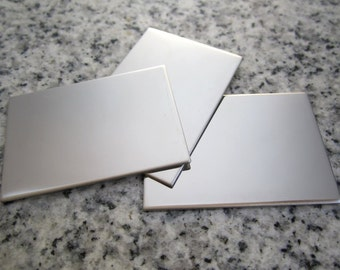 """1""""x1 1/2"""" (25MMx38MM) Rectangle Stamping Blanks, 22g Stainless Steel - AWESOME Silver Alternative RT08-12"""