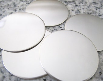 """1 1/8"""" (29mm) Round Disc Stamping Blanks, 22g Stainless Steel - AWESOME Silver Alternative R09"""