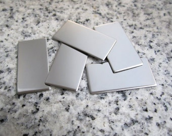 """1/2"""" x 1"""" (13mm x 25mm) Rectangle Stamping Blank, 22g Stainless Steel - AWESOME Silver Alternative RT04-08"""