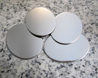 """1"""" x 1 1/4"""" (25mm x 32mm) Oval Stamping Blank, 22g Stainless Steel - AWESOME Silver Alternative O08-10"""