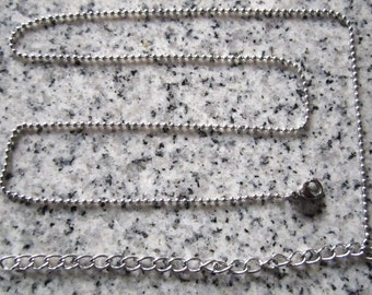 """16"""" plus 4"""" extension 1.5mm No. 0 Stainless Steel Ball Chain necklaces w/ Lobster clasps. - Silver Alternative - BC0-16ELC"""