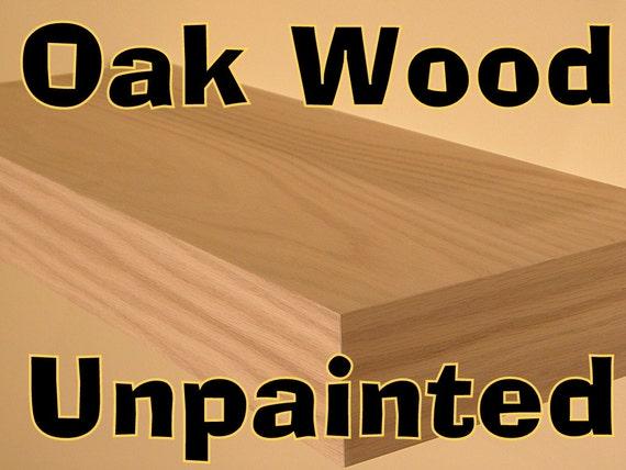 "Decorative wall Shelf 36"" Long Floating Oak Unpainted wood Shelves, Set of 3  FREE SHIPPING Floating Wall shelf"
