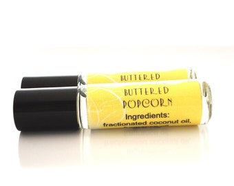 Buttered Popcorn Roll On Perfume Oil - Carnival, Foodie, Movie Theater Buttery Popcorn Fragrance
