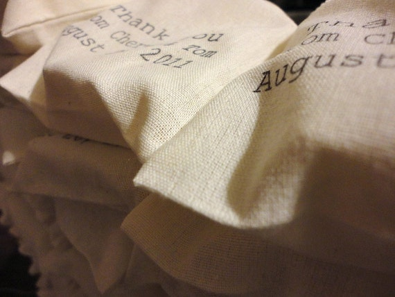 50 Custom Hand Stamped Soap Favors - Muslin Bags - Wedding/Baby/Bridal - Party Favor