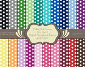 Polka Dot Frenzy Printable Digital Scrapbook Background Sheets 12x12 Personal or Commercial use