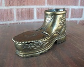 Copper-Colored Metal Boot Ashtray