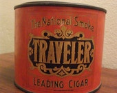Traveler Leading Cigar Tobacco Tin