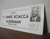 Alderman V. James Sciacca Ink Blotter