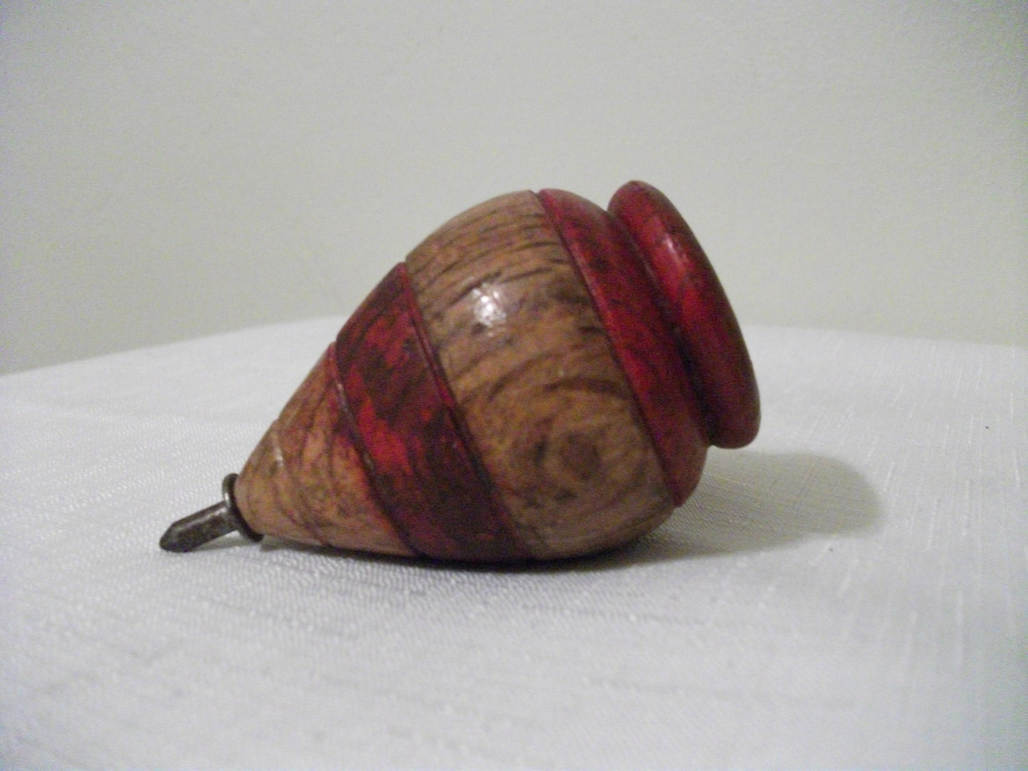 Antique Wooden Spinning Top by PrimePickins on Etsy