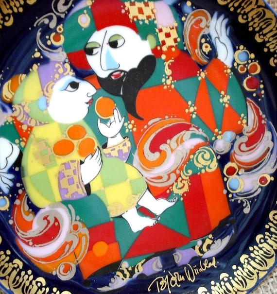 Vintage Rosenthal Sammel Studio Line Plate by Bjorn Wiinblad - Aladin Series