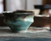 rustic earthy turquoise copper pottery bowl