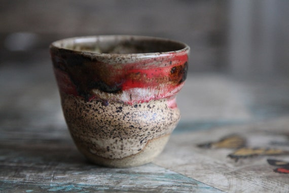 Rustic Red Earthy Cup