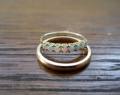 Reserved for Gabrielle-Vintage opal and 18k band ring